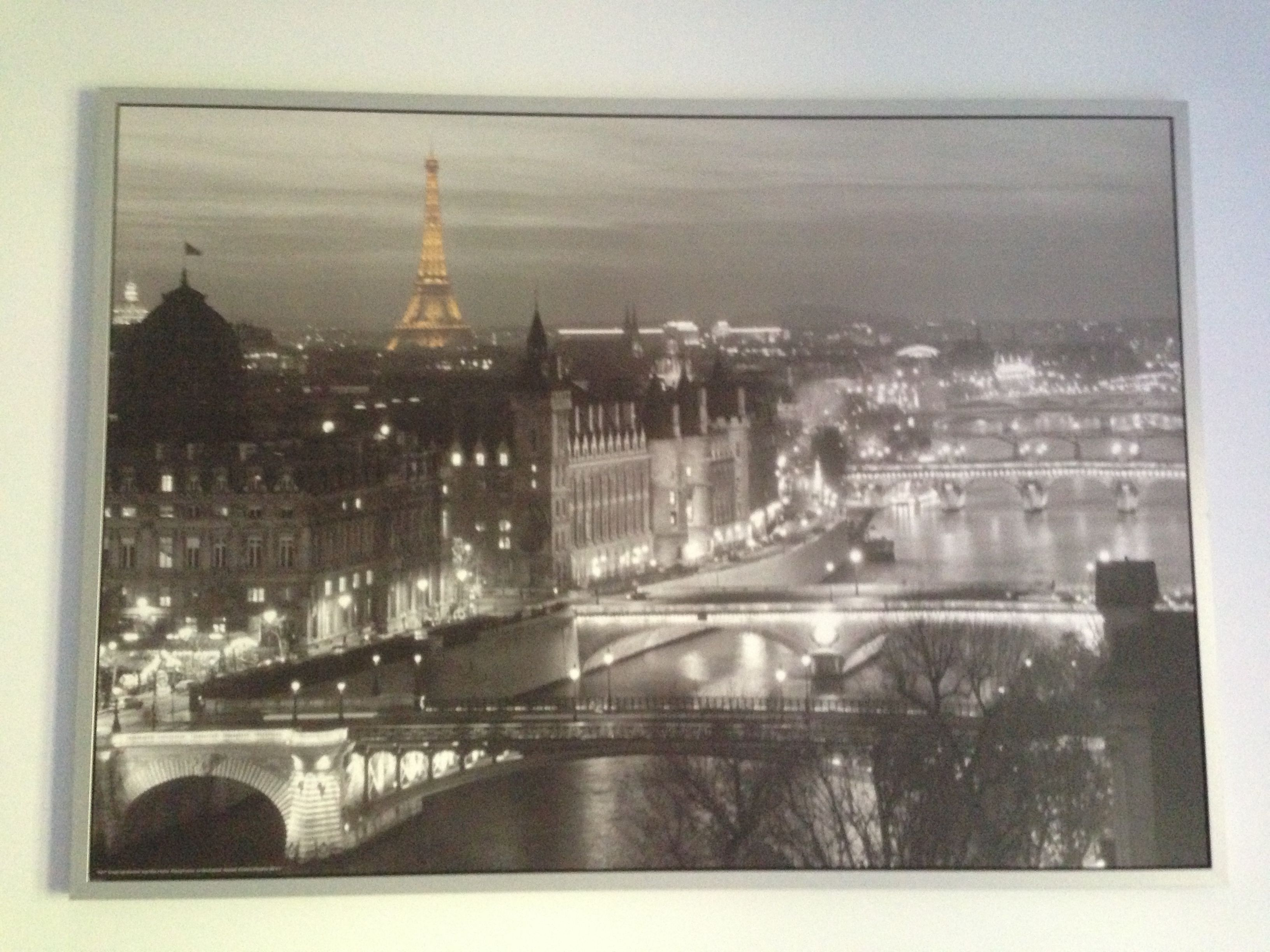 painting of paris in my room i got it from ikea living. Black Bedroom Furniture Sets. Home Design Ideas