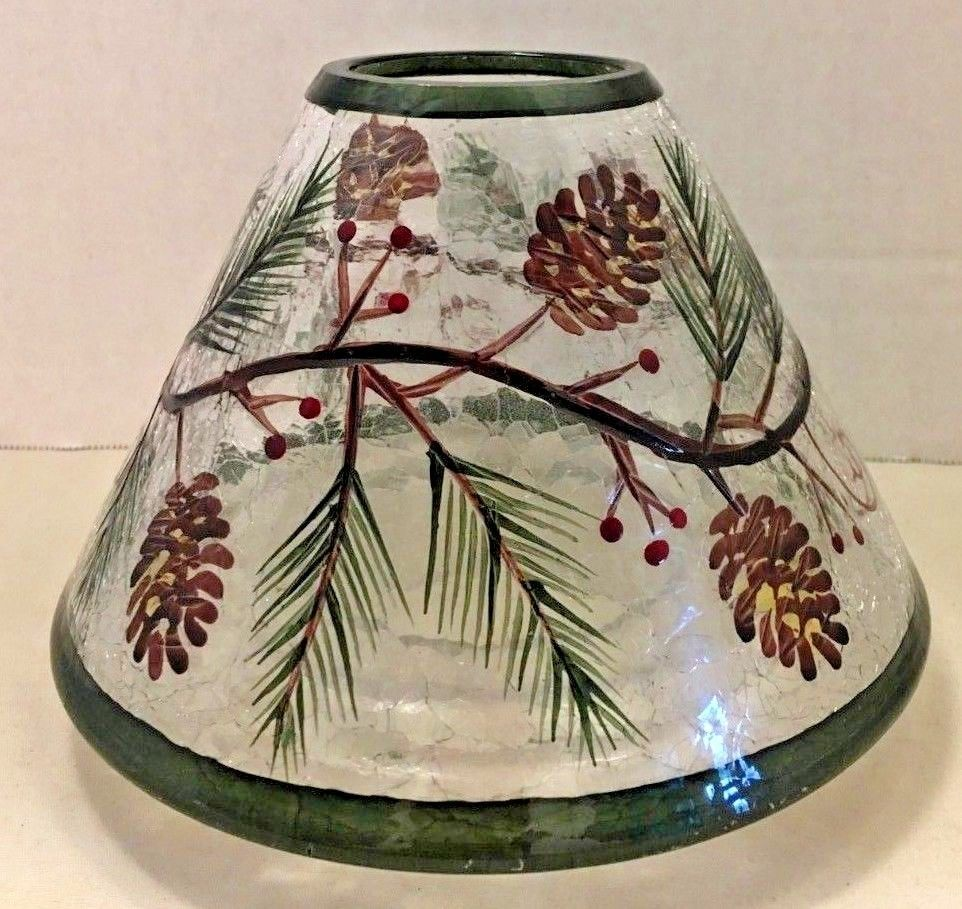 Red W// Pine cone /& pine accents Holiday Christmas Full Size Wax Warmer Habnail