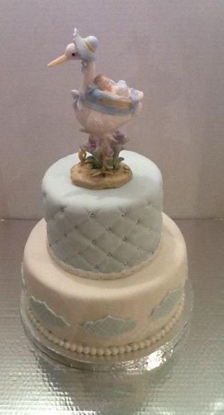 Elegant Baby Shower Cakes Delicate Elegant Baby Boy Shower