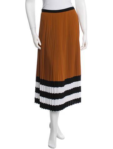 Michael Kors Color-Block Pleated Skirt w/ Tags