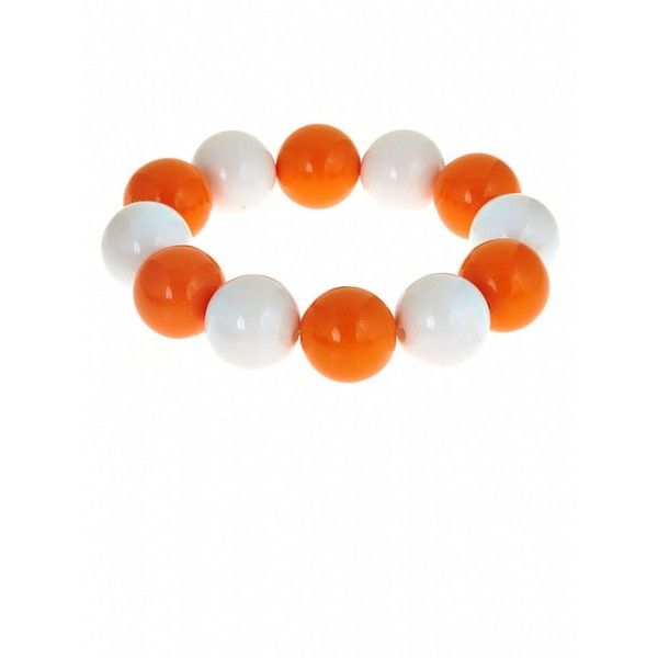 Fornash Two-Tone Candy Bracelet ($12) ❤ liked on Polyvore featuring jewelry, bracelets, fornash, beading jewelry, two tone jewelry, two tone bangle and beaded jewelry