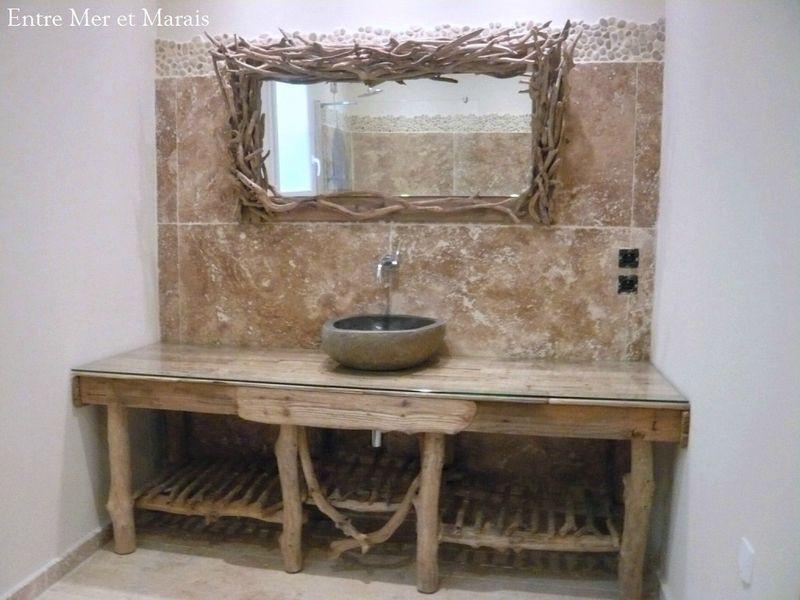 salle de bain bois flotté | Salle de bain bois, Meuble ...