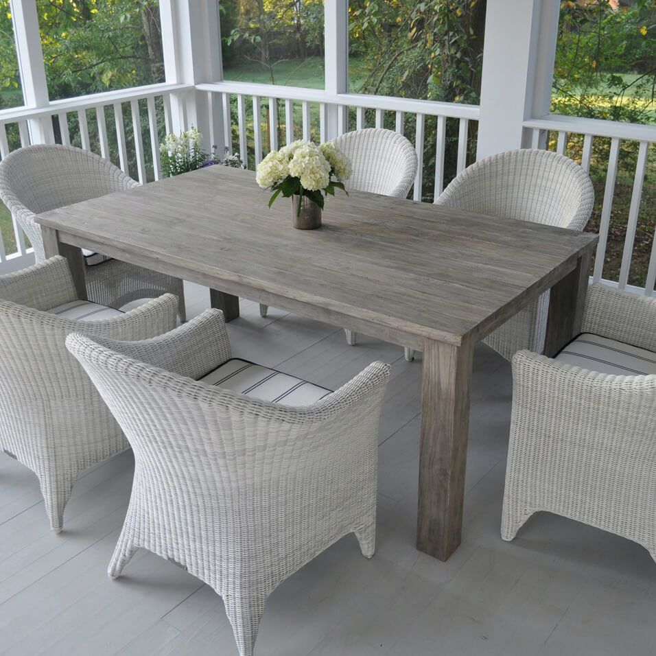 grey outdoor dining set aluminum kingsleybate cape cod 6seat dining set exclusive cozy porches