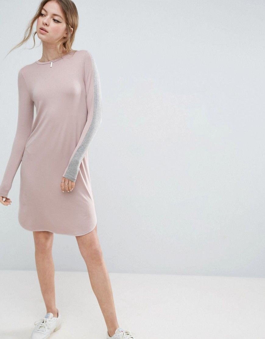 Get this Asos's midi dress now! Click for more details. Worldwide shipping. ASOS Bodycon Midi Dress with Stripe Sleeve Detail - Pink: Bodycon dress by ASOS Collection, Stretch jersey knit, Cre wneckline, Side stripes, Curved hem, Close-cut bodycon fit, Machine wash, 95% Viscose, 5% Elastane, Our model wears a UK 8/EU 36/US 4 and is 176 cm/5'9.5� tall. Score a wardrobe win no matter the dress code with our ASOS Collection own-label collection. From polished prom to the after party, our…