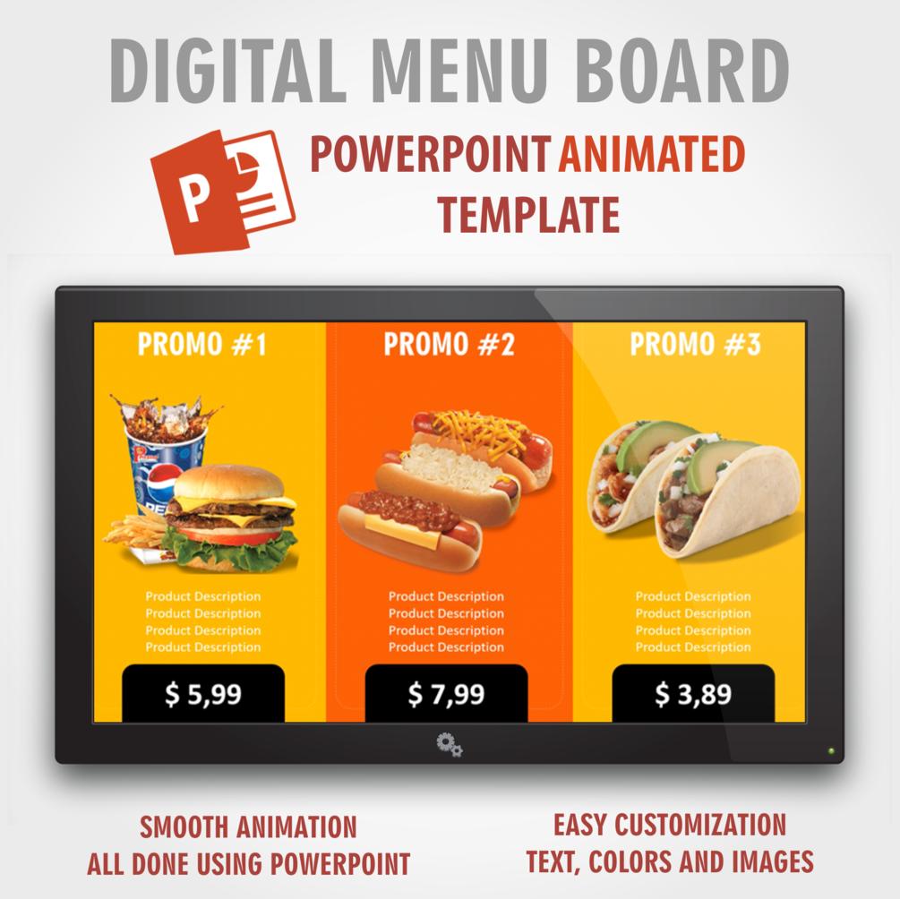Digital Signage Powerpoint Food Presentation Animated