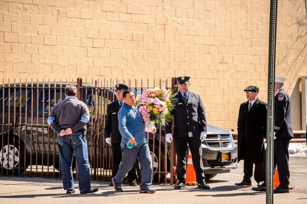 Flowers Arrive At The Wake For Yadira Arroyo In Joseph A Lucchese Funeral Home