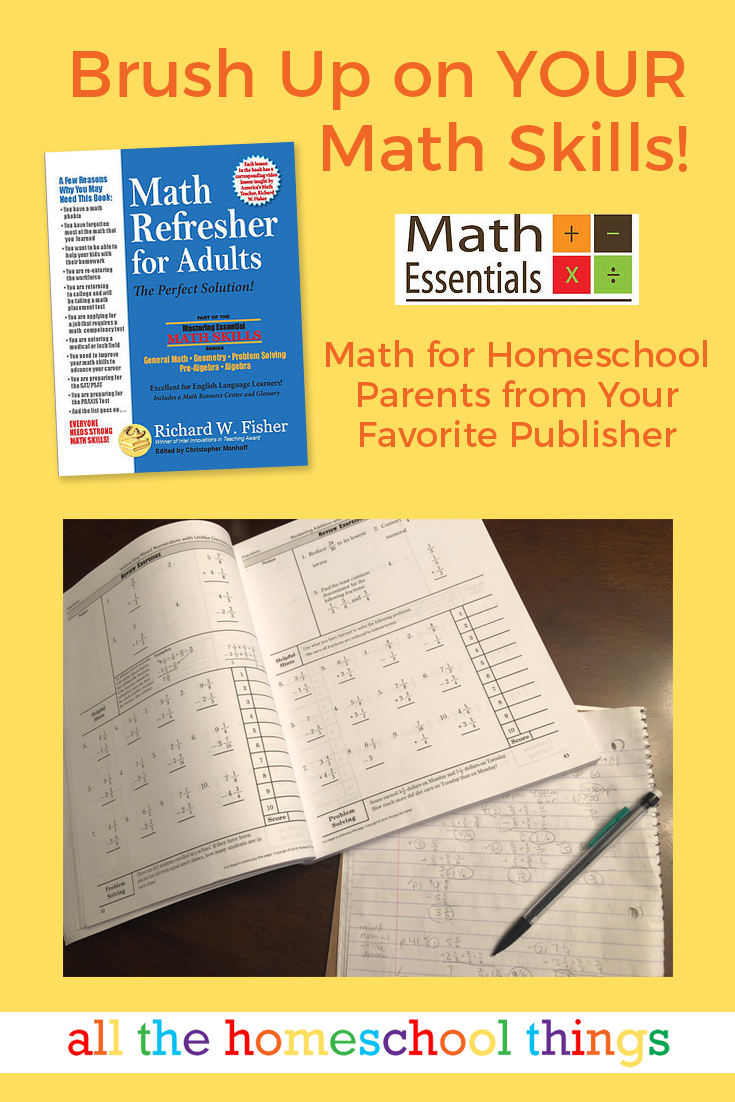 Brush Up on YOUR Math Skills with Math Refresher for Adults, from Math  Essentials - A must-have for every #homeschool parent!