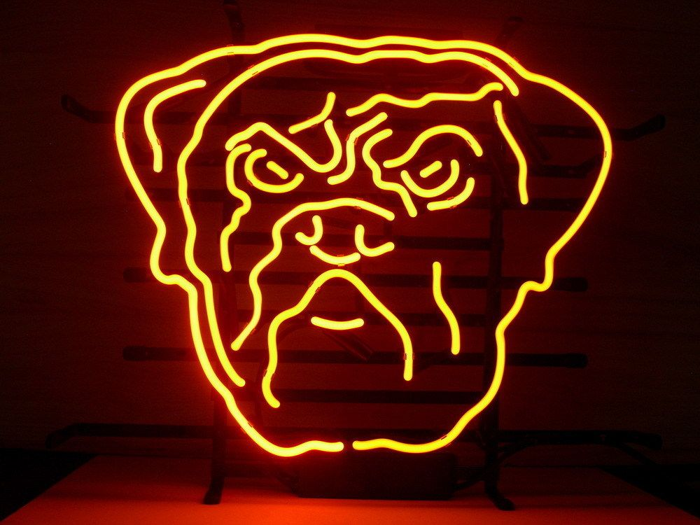 Pin by Wikineon Neon Store on NFL CLEVELAND BROWNS DOG