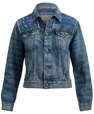 87b60793b19 Polo Ralph Lauren Patchwork Denim Trucker Jacket - Navy XL ...
