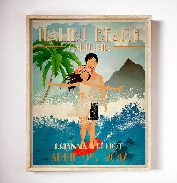 Personalized Wedding Gift Custom Poster By Cherimoyaart