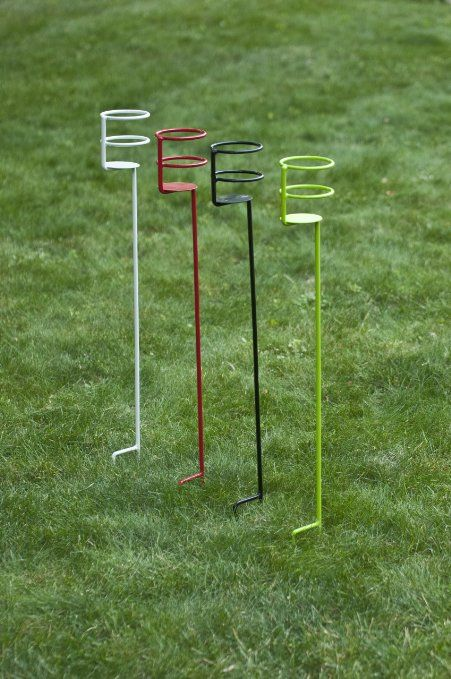 Decko Heavy Duty Outdoor Beverage//Drink Holder Stakes 4-Pack
