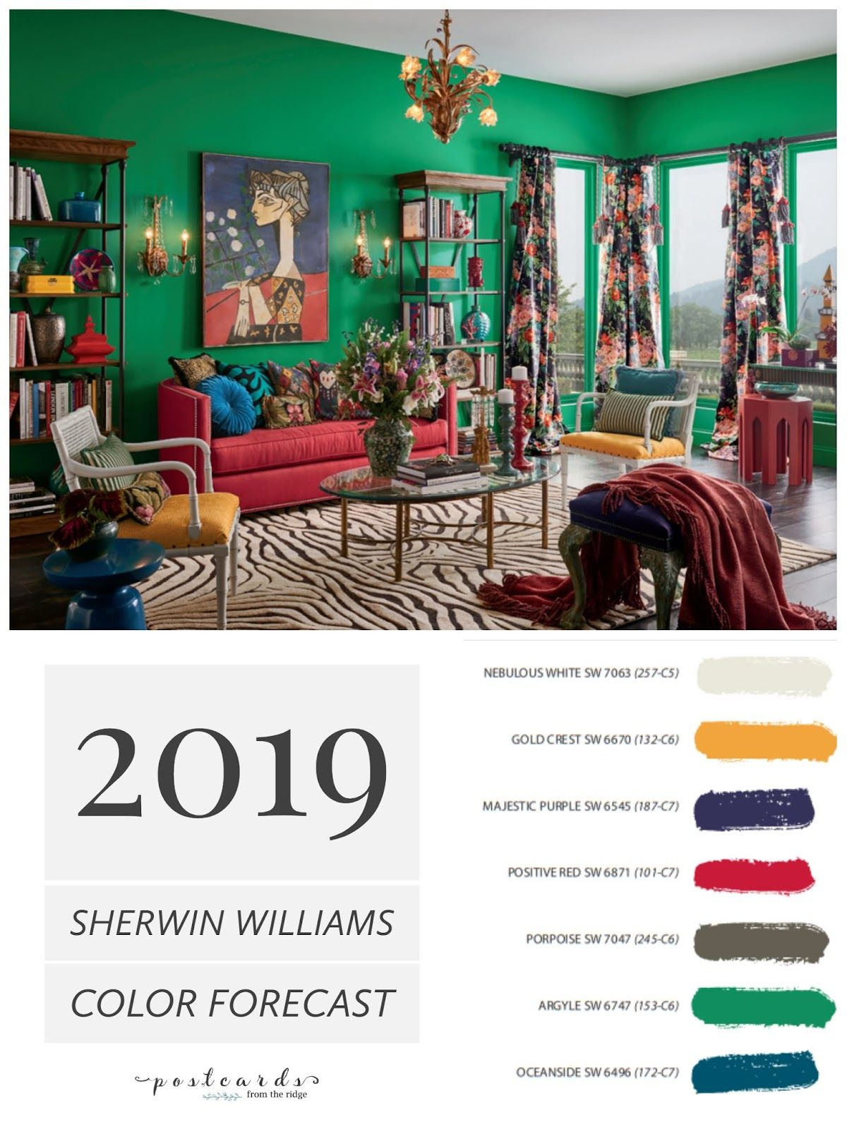 2019 Paint Color Forecast from Sherwin Williams   interior ...