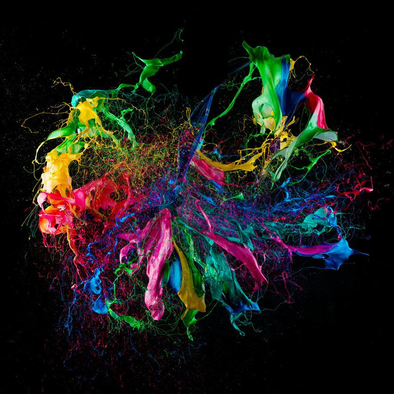 Popping A Balloon Covered In Paint High Speed Photoraphy By Fabian Oefner 3 Balloon Painting High Speed Photography Artist