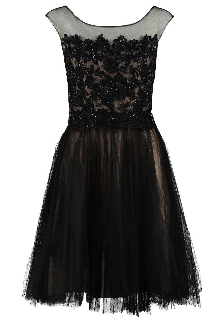 Luxuar Fashion Cocktailkleid / festliches Kleid - schwarz/nude ...