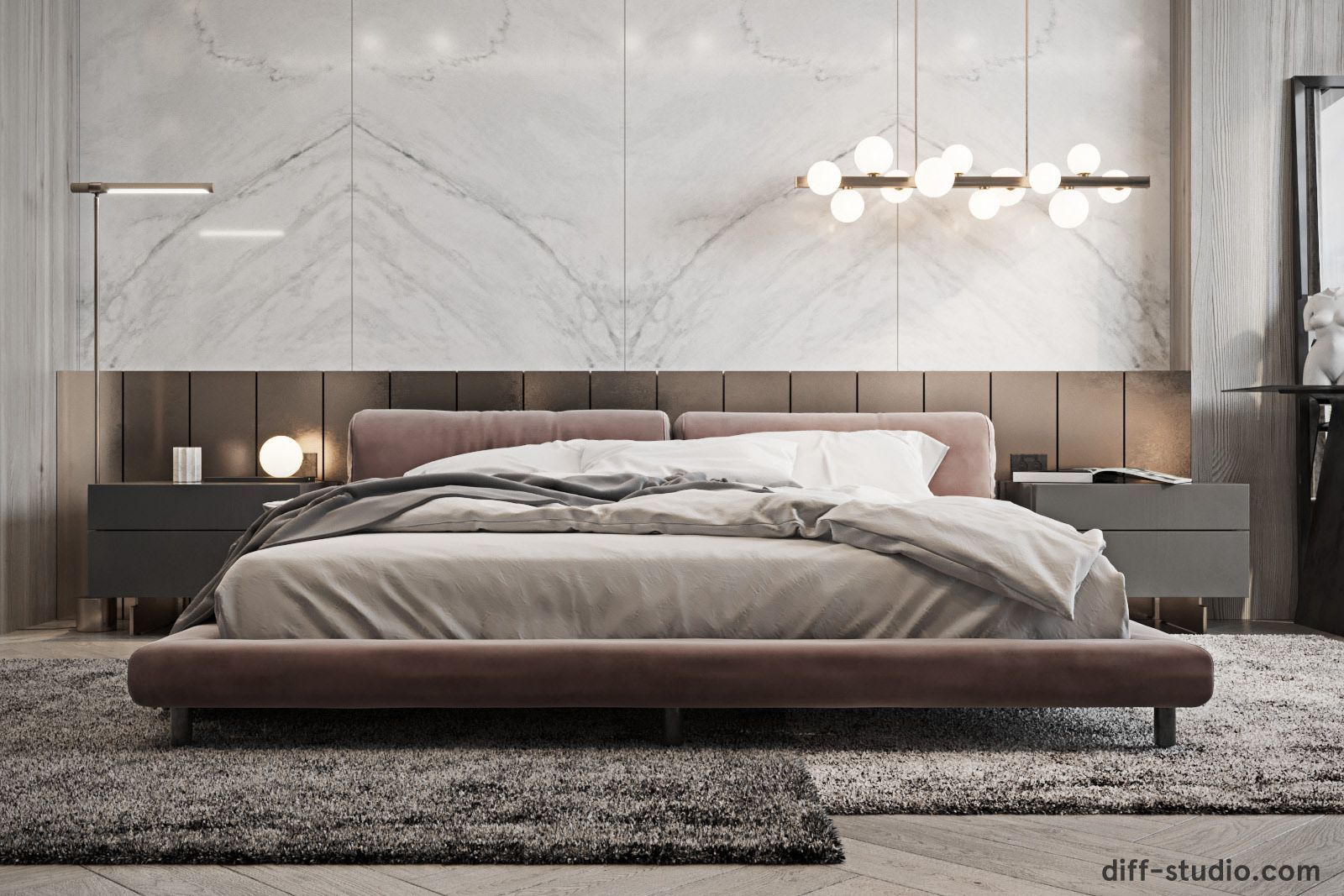 Contemporary House In Paris Master Bedroom Luxury Bedroom Master Contemporary Bedroom Luxurious Bedrooms Bedroom design modern contemporary