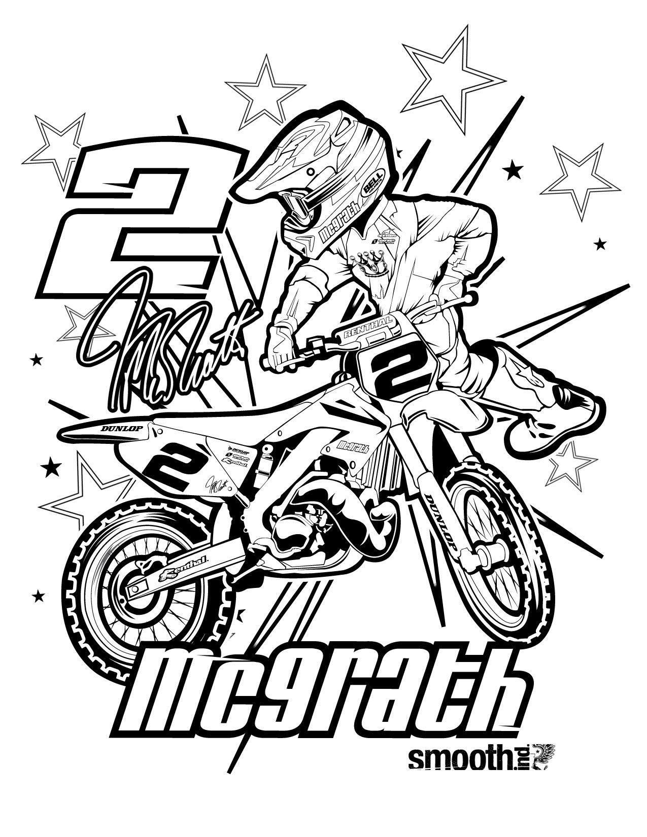 coloriage de moto a imprimer gratuit mc graph