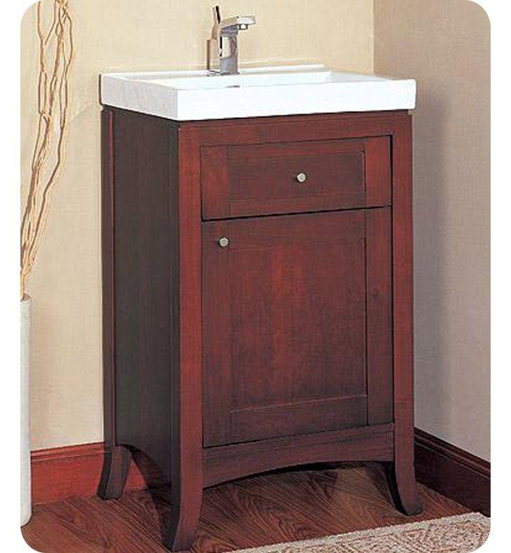 Fairmont Designs Shaker 21 Transitional Dark Cherry Bathroom Vanity W Sink 735 Downstairs