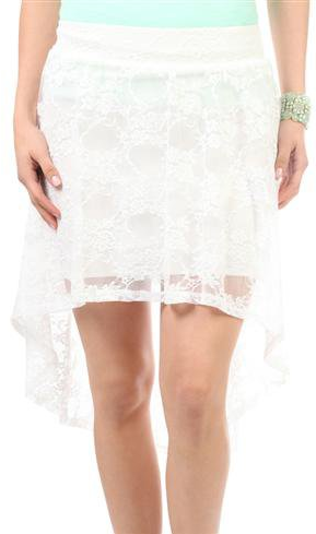 #Deb Shops                #Skirt                    #solid #lace #high #skirt #debshops.com             solid lace high low skirt - debshops.com                                      http://www.seapai.com/product.aspx?PID=1869880
