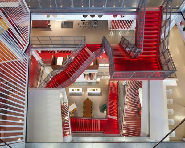 Macquarie group büro London rotes treppenhaus | Arch ...