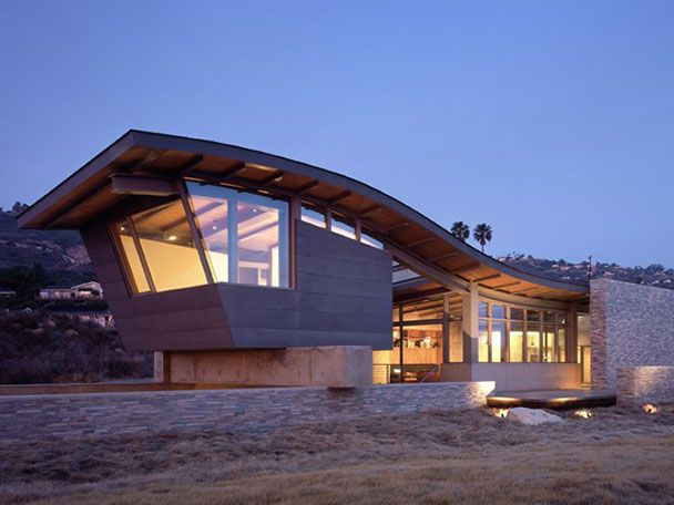 Roof Design House Beach Wavy Like Waves By Marmol Radziner Home Trend Decorating Home Design Inte Modern Roof Design Beach House Design Roof Architecture