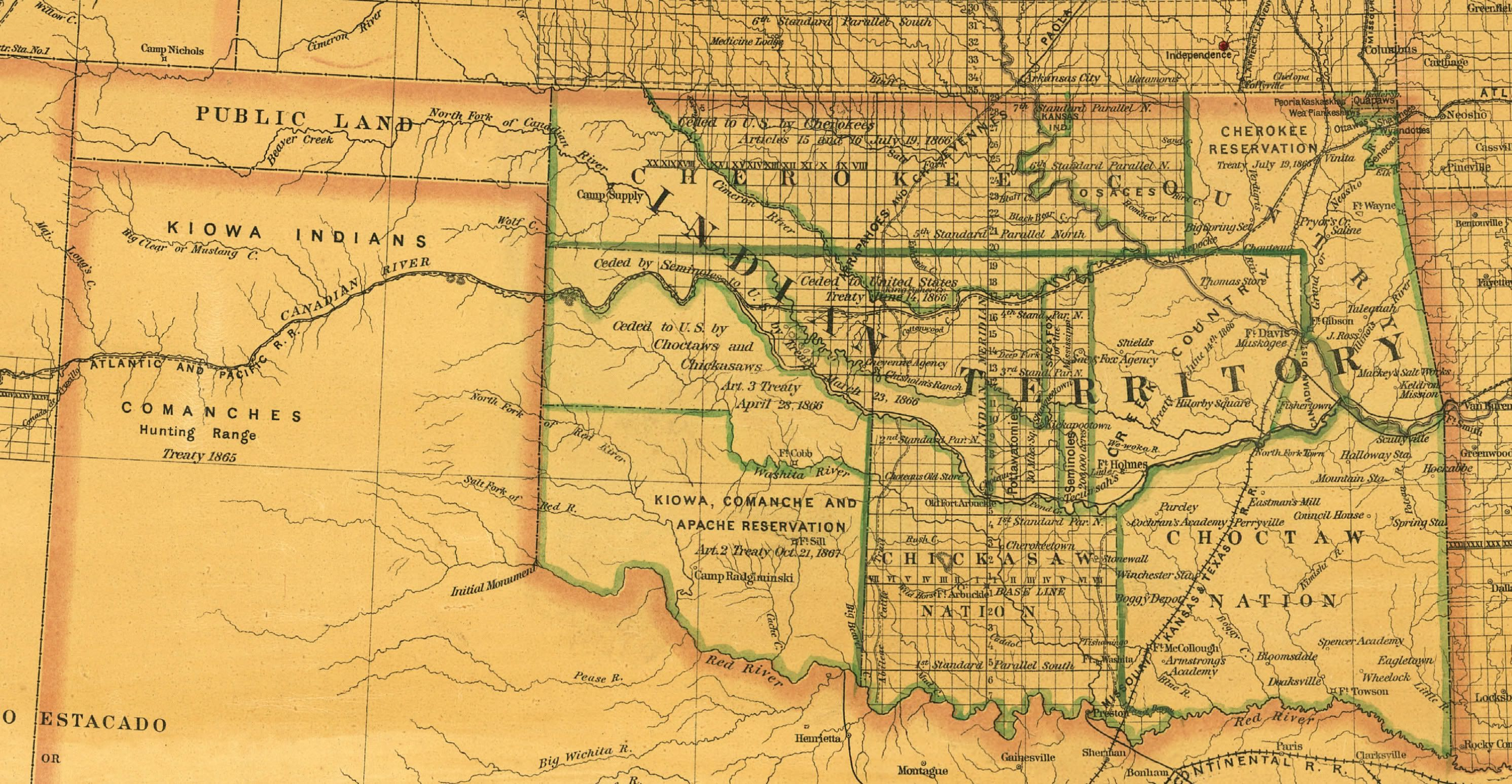Maps and History of Oklahoma 18301900 Oklahoma Pinterest