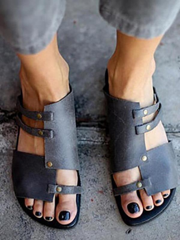Causal Low Heel Beach Flat Sandals Bonboho Casual Slippers Womens Sandals Casual Sandals