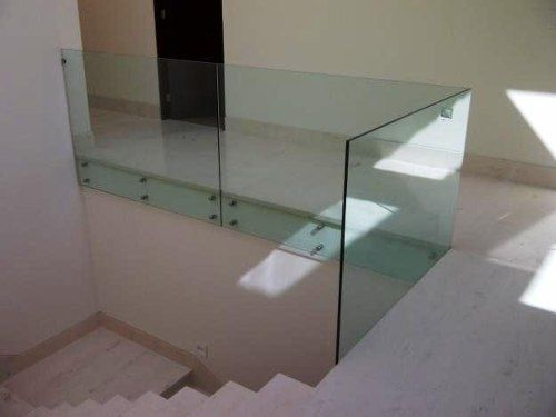 Barandales de acero inoxdable y cristal templado ideas para la casa pinterest barandales - Pasamanos de cristal ...