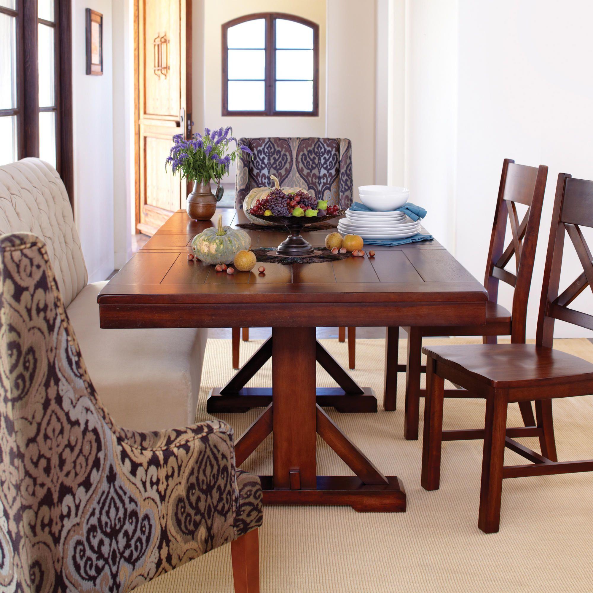 World Market Dining Room Tables: Mahogany Verona Trestle Table