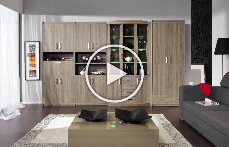 Wohnzimmerwand A Kontich Farbe Eiche Truffel In 2020 Home Decor Entryway Decor Home Diy