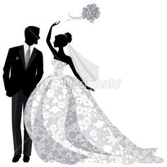 beautiful bride and groom just married bride is wearing beautiful rh pinterest com Bride and Groom Silhouette in White Bride and Groom Silhouette Templates