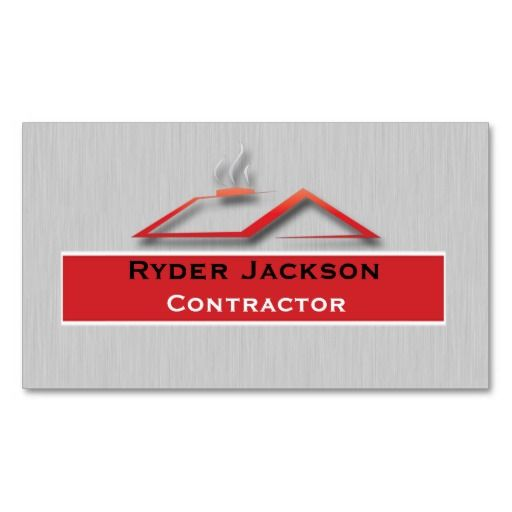 Construction Roofing Business Card Template Zazzle Com Business Card Template Roofing Business Modern Business Cards