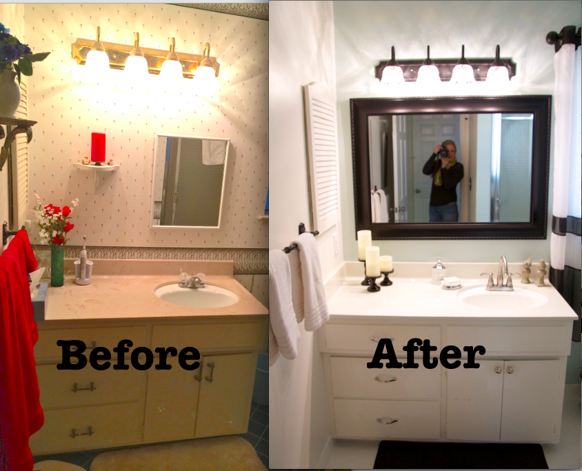 Bathroom Makeover Vanity love some of these ideas. i may replace the tub/shower insert but