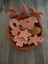 Vianoce - Medovníčky sada malá 10 ks rôzne - 4629049_