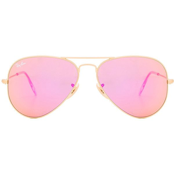 68fc8cdff1 Ray-Ban Aviator Flash Lenses ( 180) ❤ liked on Polyvore featuring  accessories