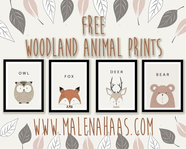Free Woodland Animal Printables Baby Shower