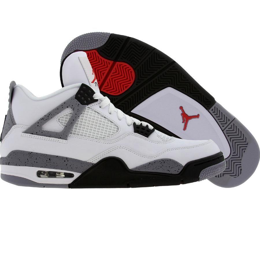 7ba27424d76 Air Jordan 4 IV Retro - White Cement (white   black   cement grey) 408452- 103 -  149.99