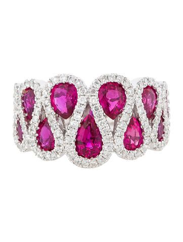 3.35ctw Ruby and Diamond Ring