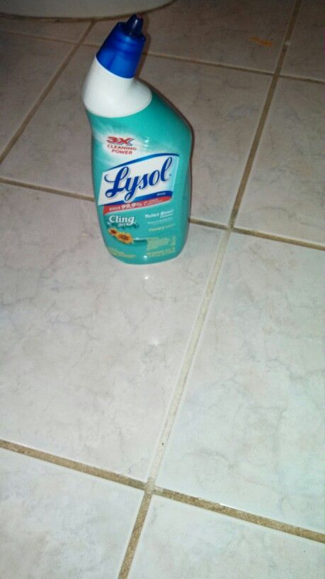 lysol toilet bowl cleaner is a miracle grout cleaner let sit for 10 minutes