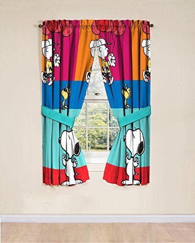 Peanuts Just Be 42 X 63 Curtain Panel Pair >>> Click On