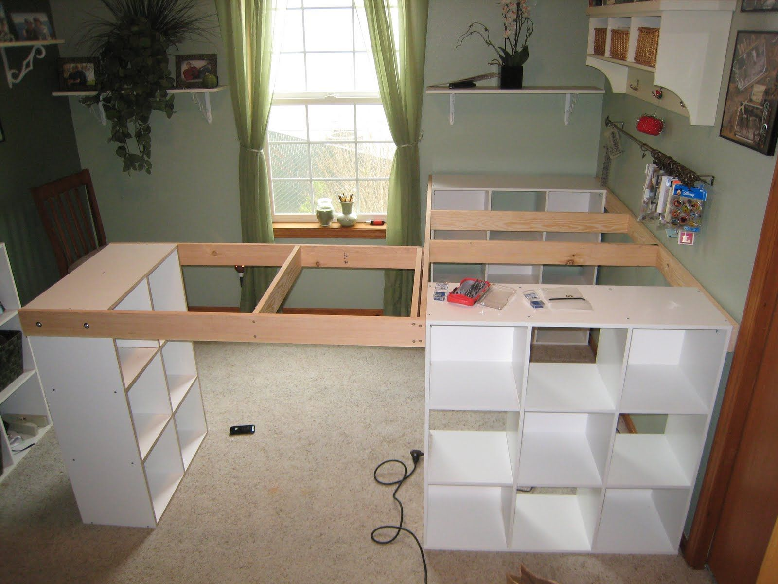 Pinterest Do It Yourself Crafts | DO IT YOURSELF WHITE CRAFT DESK ...