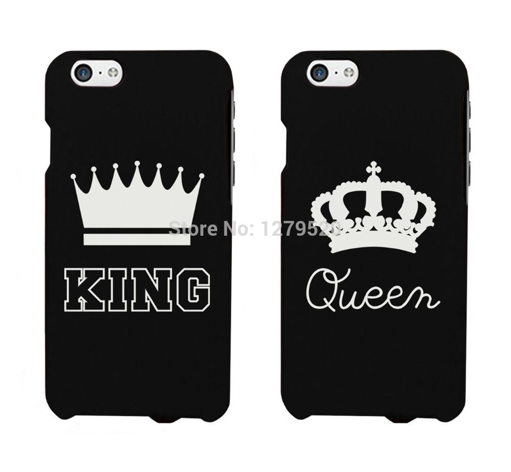 Pin On Rhinestone Cases Iphone black iphone king and queen