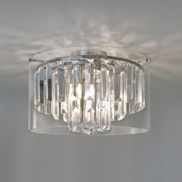 Crystal Glass Droplets Bathroom Ceiling Light  Then There Was Captivating Bathroom Ceiling Light Design Decoration