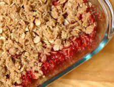 Heeman's Strawberry Rhubarb Crisp is a hit with fresh or frozen fruit.