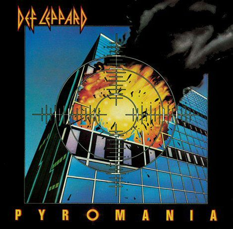 Album cover, Def Leppard, Pyromania