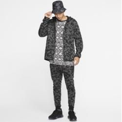 Photo of Nike Sportswear Tech Fleece Full Zip Men's Hoodie with Print – Black Nike