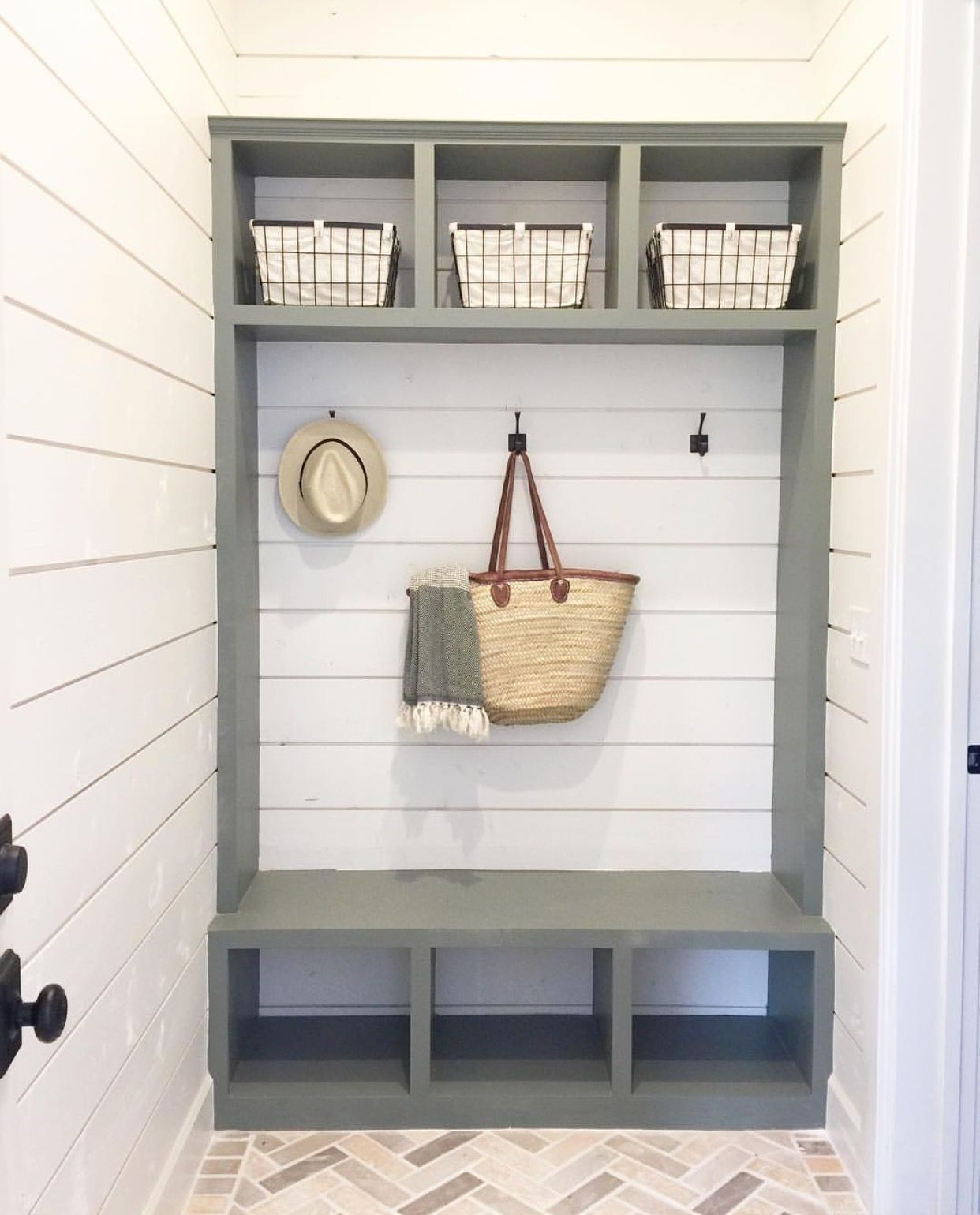 Farmhouse Style Mud Room and Hall Tree Inspiration! - Cotton Stem