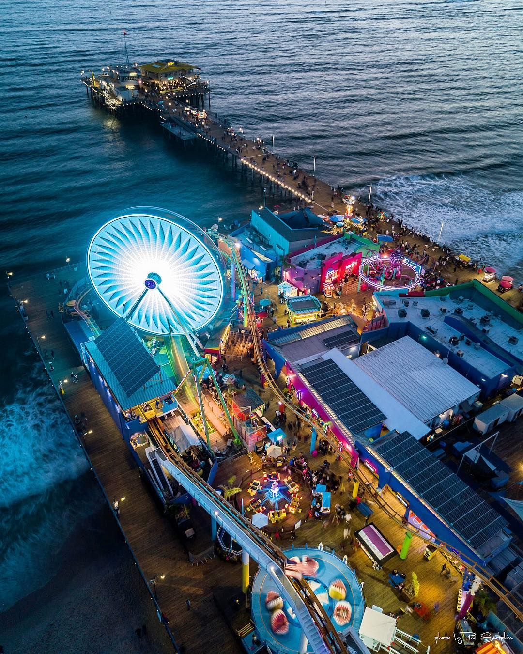 The Peir: Drone Photography Here's Another Shot Of The Santa Monica