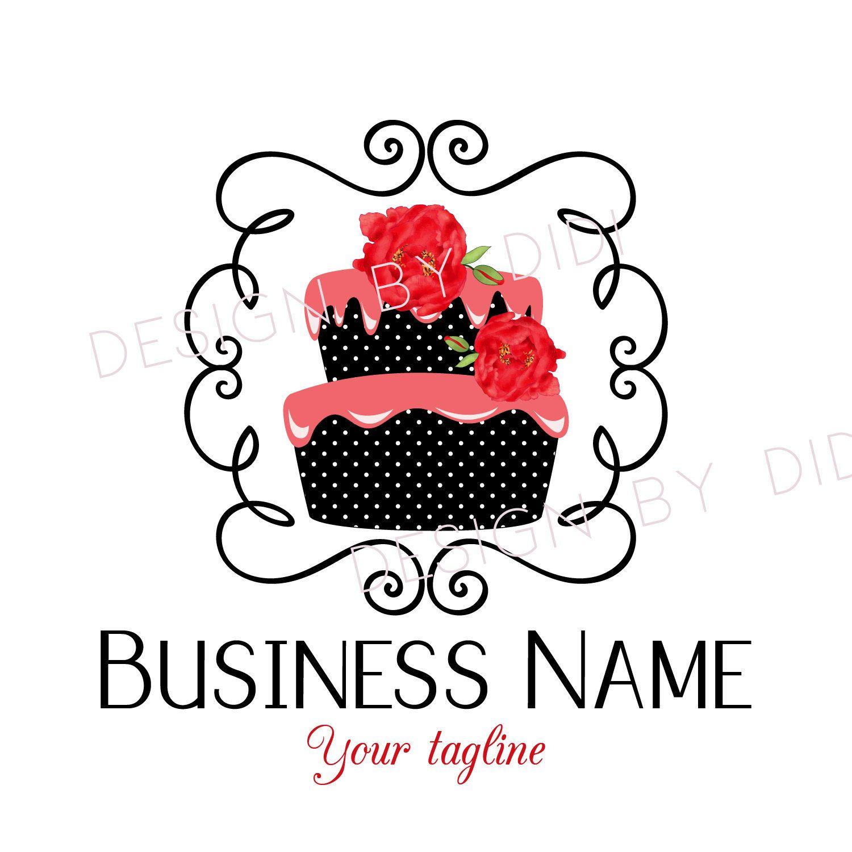 Premade Cake Logo Custom Logo Design Bakery Logo Sweets Layer