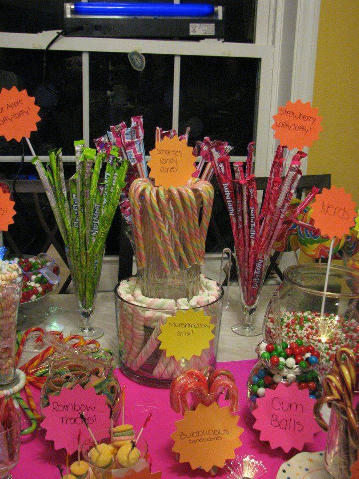 Glow In The Dark Candy Buffet GLow in the Dark Party...
