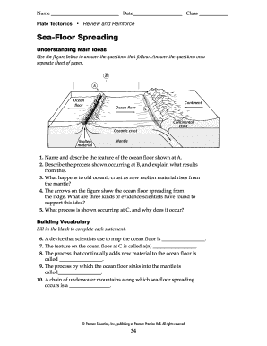 Awesome Seafloor Spreading Worksheet Pdf Answer Key Pearson Education And View In 2020 Pearson Education Seafloor Spreading Answer Keys